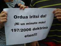 Proteste im Baskenland gegen die Doktrin Parot.