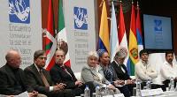 Festakt im Museum der Stadt Mexiko zur Unterstützung der Erklärung von Aiete