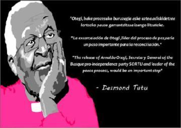 Der südafrikanische Erzbischof und Friedensnobelpreisträger Desmond Tutu
